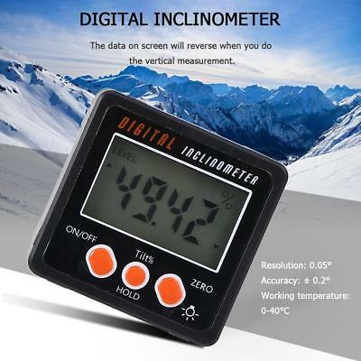 Mini LCD Digital High Precision Protractor Inclinometer Angle Finder Bevel US