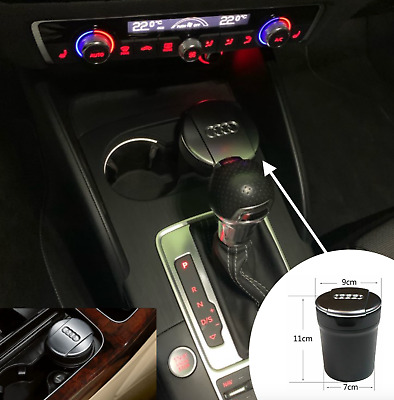Audi Car Ashtray Garbage Coin Storage Cup Container Audi A3, A4L, A5, A7, Q3, Q5