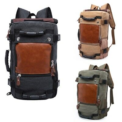 KAKA Large Capacity Wear-resistant Chic Canvas Backpack N6E4)