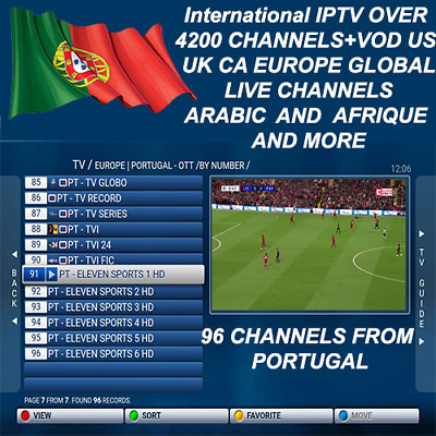 24 hours International Iptv Subscription Over 5000 Ch+Vod Android MAG M3U