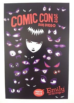"SDCC 2018 EXCLUSIVE *Emily The Strange - Fine Art* RARE Promo Flyer - 4"" x 6"""