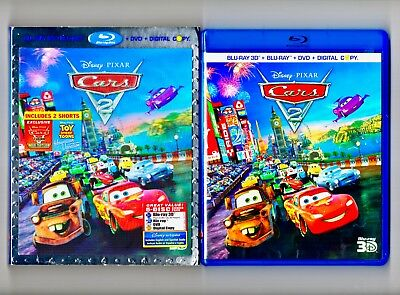 Cars 2 DVD Only + 3D Lenticular Slipcover + Blu-ray Case Combo Pack Disney PIXAR