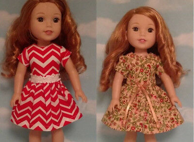 Doll Clothes Dress Fits 14.5 inch American Girl Wellie Wishers Doll 209ac