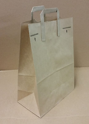 12x7x17 (approximate) Kraft Brown Paper Grocery Shopping Bags with Paper Handles