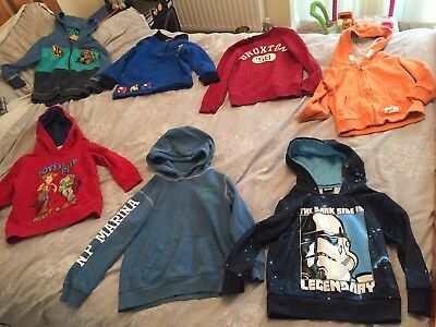 Boys Tops Bundle, Age 4-5 Yr, 7 In Total, Hoodies, Star Wars, Tractor Ted, Jcb