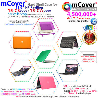 """NEW mCover® Hard Shell Case for 2018 15.6"""" HP Pavilion 15-CSxxxx series laptop"""