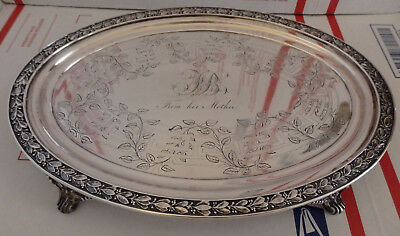 High Quality Boston Coin Silver Tray Salver Waiter By Haddock Lincoln & Foss