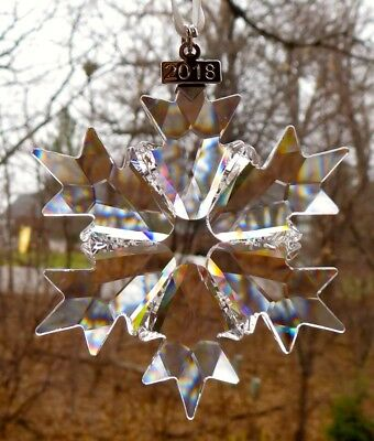 SWAROVSKI Crystal 2018 Annual Snowflake Christmas Ornament New in Box
