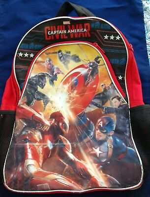 "Captain America ""Civil War"" Kid's Backpack with Reflective Lights"