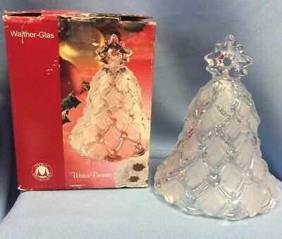 """VTG Walther-Glass Bell, Winter Dreams Design, 5.5"""" Tall, Gorgeous!"""