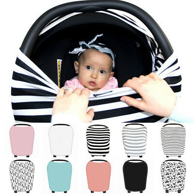 Seat Universal Baby Infant Hot Kids Cover Nursing Car Stretchy Canopy Multi-use