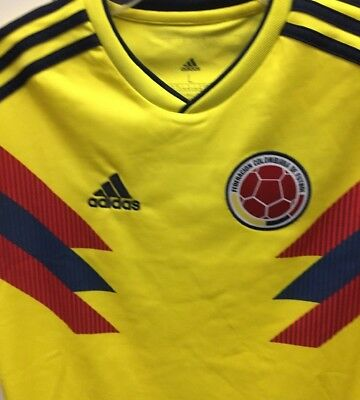 ADIDAS COLOMBIA HOME soccer Jersey 2018 world cup SHIPS priority ... a05053041
