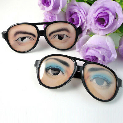 Crazy Eyes Glasses Funny Specs Shape Changing Shades April Fools' Day Joke Filmy