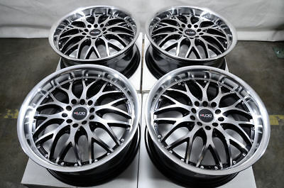 "17"" Wheels Honda Accord Civic Corolla Cr-Z Prelude Lancer Scion xA xB Black Rims"