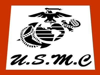 """USMC ** UNITED STATES MARINE CORPS REUSABLE STENCIL*FREE USA S&H* 5"""" x 6"""" inches"""