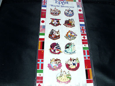Disney * EPCOT SHOWCASE * 11 Pin Characters & Countries Collection / Booster Set