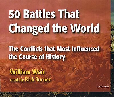 50 Battles That Changed the World 4-CD Audiobook - W. Weir - New - FREE SHIPPING