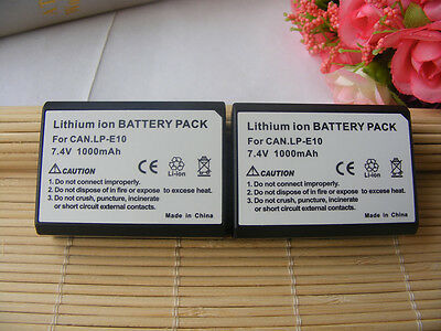 2X Camera Battery Pack For Canon LP-E10 Rebel T3 T5 T6 T7  LPE10 1100D 1300D