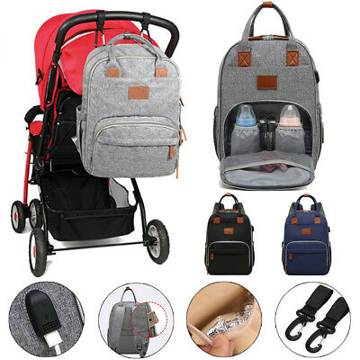 Baby Diaper Backpack Nappy Waterproof Luxury Mummy Changing Bag Multifunctional
