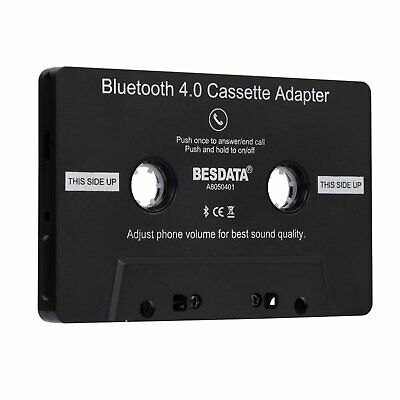 Car Auto Tape Cassette Adapter Bluetooth 4.0 for iPod MP3 iPhone Android