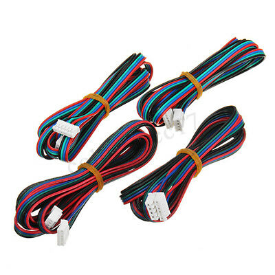 4PCS 1M 4Pin Cable Wire For MKS Series 3D Printer Stepper Motor Nema 17   new