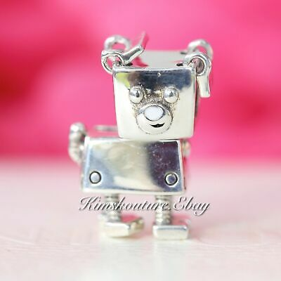 Authentic PANDORA Sterling Silver BOBBY BOT CHARM 797551EN12 Bead
