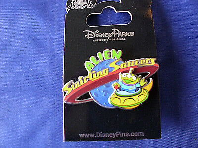 Disney * TOY STORY - ALIEN SWIRLING SAUCERS * New on Card Attraction Trading Pin