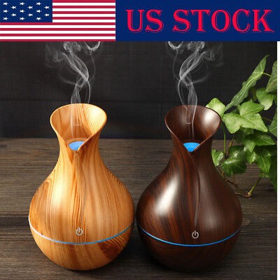 USB LED Purifier Ultrasonic Aroma Essential Diffuser Air Humidifier Aromatherapy