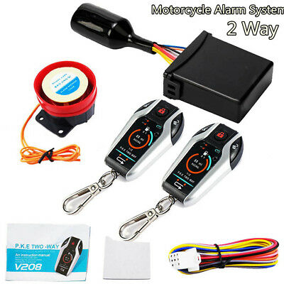Universal PKE 2 Way Motorcycle Alarm Security System w/ Remote Engine Starter