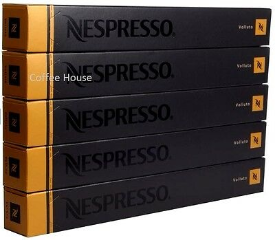 50 New Original Nespresso Volluto Saveur Café Capsules Gousses GB