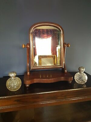 Antique Victorian Dressing Table / Vanity / Toilet Swing Mirror