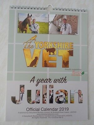 "YORKSHIRE VET 2019 ""A Year With Julian"" official CALENDAR unsigned NOW REDUCED"