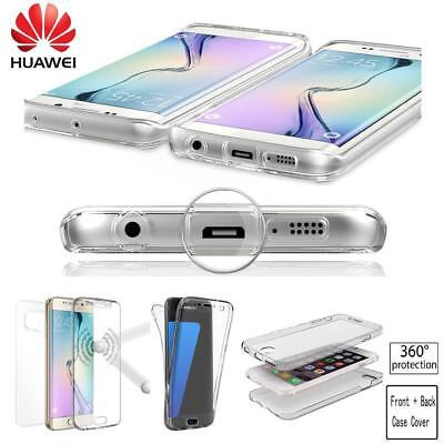 360° Front and Back Glass Fully TPU Silicon Case Cover For Huawei,Apple,Samsung