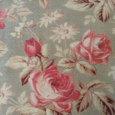 Lovely Antique/vintage French floral fabric cotton cretonne shabby chic