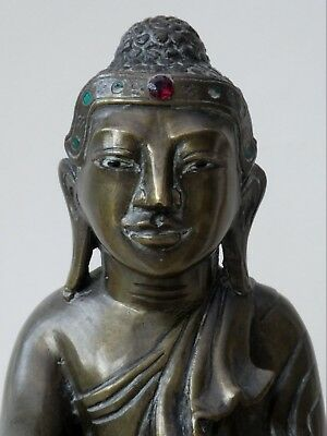 FINE ANTIQUE BURMESE CHINESE INTEREST BRONZE BUDDHA FIGURE MANDALAY 19th CENTURY