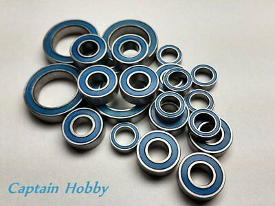 (Blue)Double Metal Rubber Sealed Ball Bearing For Tamiya CW-01/CW01 (10pcs) Ryu
