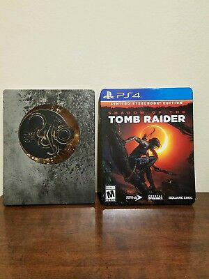 Shadow of the Tomb Raider PS4 steelbook case with art cards *NO GAME DISC*