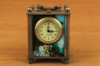 Rare Old Bronze Handmade western style mechanical watch horologe table noble