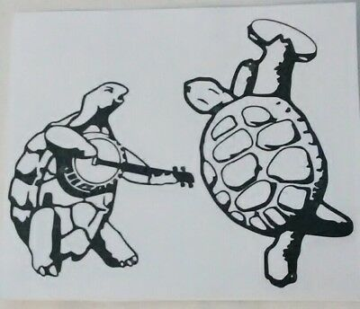 c6502bcac33 Dancing Terrapins Black Vinyl Decal Sticker Grateful Dead Terrapin Station