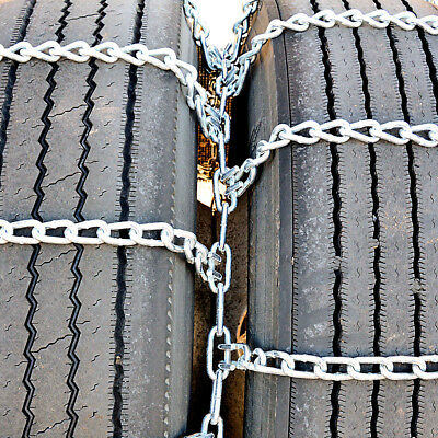 Titan Truck Tire Chains Dual/Triple On Road Snow/Ice 5.5mm 245/75-17
