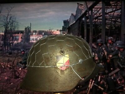 WW2 GERMAN HELMET M35 Refurbished