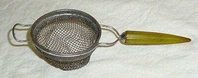 Vintage Androck Green Bakelite Handle Country Kitchen Strainer Kitchen Utensil