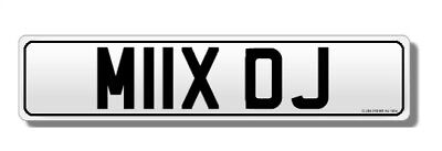 MIX DJ MIIX OJ Fantastic DJ Personal Private Promotional Number Plate