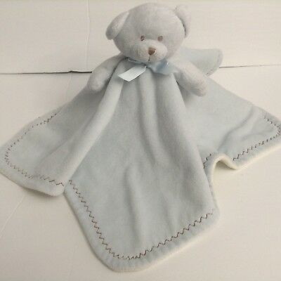 Especially For Baby Blue Bear Security Blanket Lovey Brown Zigzag Toys R Us