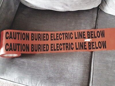 Roll Caution Buried Electric Line Below Tape construction safety ground mark