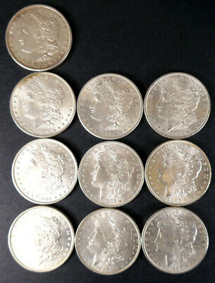 Estate Find Lot (10) Liberty Head Late 1800's  Silver Dollars No Reserve