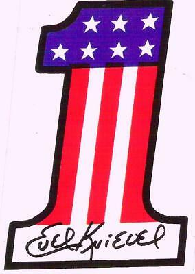 Evel Knievel Harley Davidson #1 all weather vinyl decal