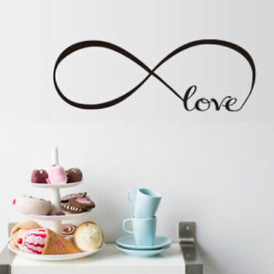 Durable Removable Room Art Mural Wall Sticker Unlimited Love Decal Room Decor F