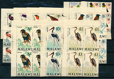 Malawi 1968 Definitives Sg310/322 (No £2) Blocks Of 4 Mnh
