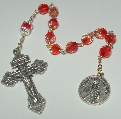 NEW Handmade in the USA Divine Mercy Single Decade Rosary with Pardon Crucifix